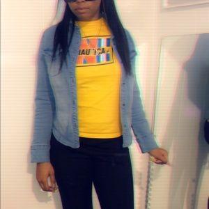 Nautica long sleeve yellow shirt